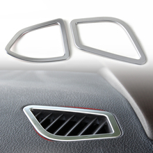 beler New 2Pcs Chrome Console Air Conditioning Vent Trim Cover For BMW 3 4 Series F30 F32 F34 F36 320 420 2013 2014 2015