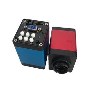 Image 4 - מלא סט 13MP תעשייתי מיקרוסקופ מצלמה HDMI VGA יציאות 180X 300X C הר עדשת 56 LED אור וידאו מקליט עבור PCB הלחמה