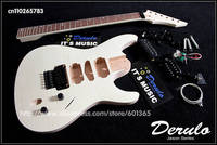 DIY Electric Guitar Kit Bolt on Solid Mahogany Body Neck Flamed Maple Veneer mx009