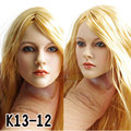 """1:6 KUMIK Accessory Action Figure CG CY Girl Female Head Painted Ver. #13-12-NP For 12"""" Collectible Action Figure Doll Toys C"""