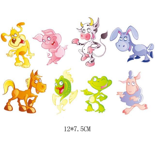 Милый мультфильм животных Комбинации гладить на патч ручной работы термоприклеивание, наклейки для Костюмы значки аппликаций для украшения из ткани - Цвет: J-61-30