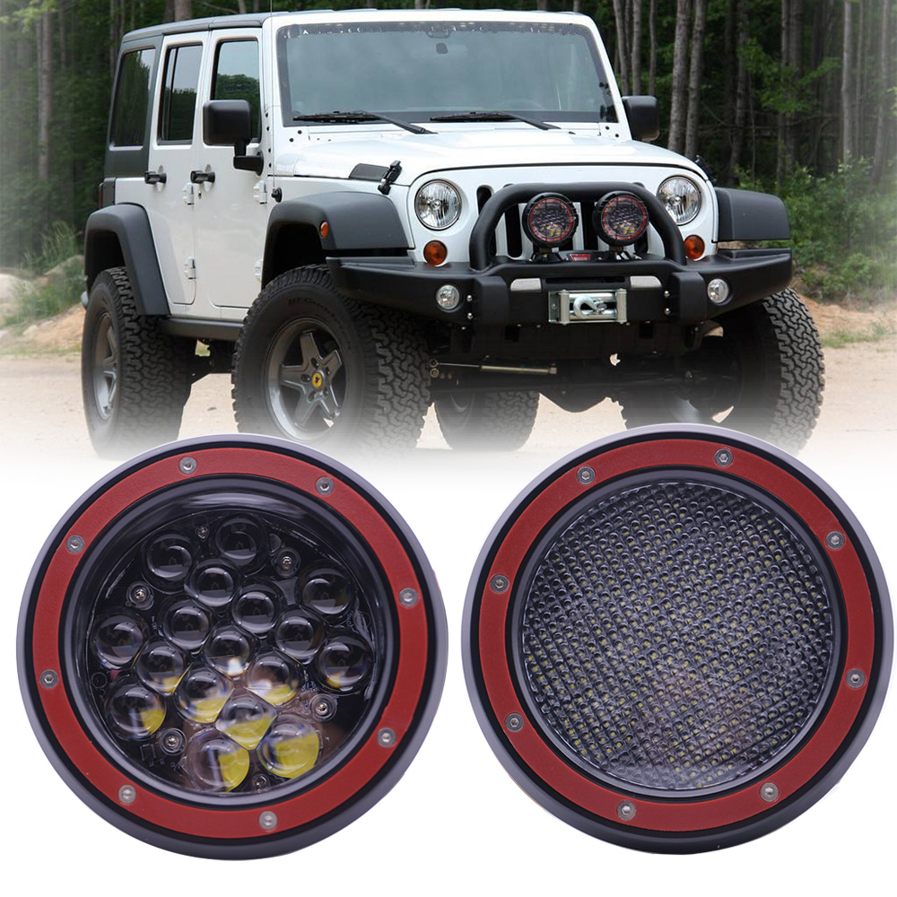 5Inch 5D Round LED Work Light Bar for Tractor Boat Offroad 4x4 Truck Spot/Flood Driving LED Work Light for Jeep ATV UAZ SUV image