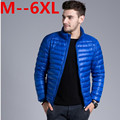 9XL 8XL 6XL 5XL Autumn Duck Down Jacket, Ultra Light Thin plus size winter jacket for men Fashion Outerwear coat free delivery