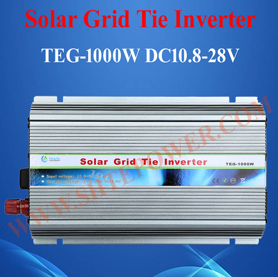 DC 12V 18V 24V to AC 90-260V 1KW Pure sine wave Grid Tie Inverter for Solar Panel 1000W 260 1 12 50271