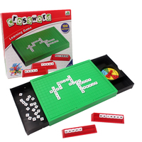 Finger Rock Scrabble Board Game Crossword 100 English Letters Learning Toys Desktop English Spelling Puzzle Toys