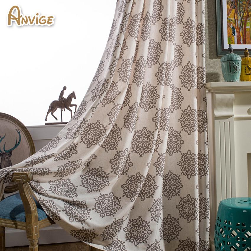 tela de algodnlino jacquard cortinas blackout cortinas para la sala de estar moderna para