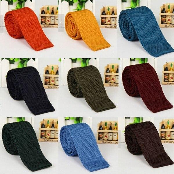 Fashion Men's Tie Knit Knitted Tie Necktie Narrow Slim Skinny Woven L3