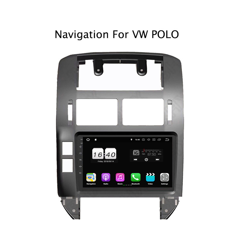 "9"" 2G RAM 16G ROM Android 8.1 Car DVD Multimedia Player For VW Polo 2004-2010 GPS Navigation Radio Stereo Audio"