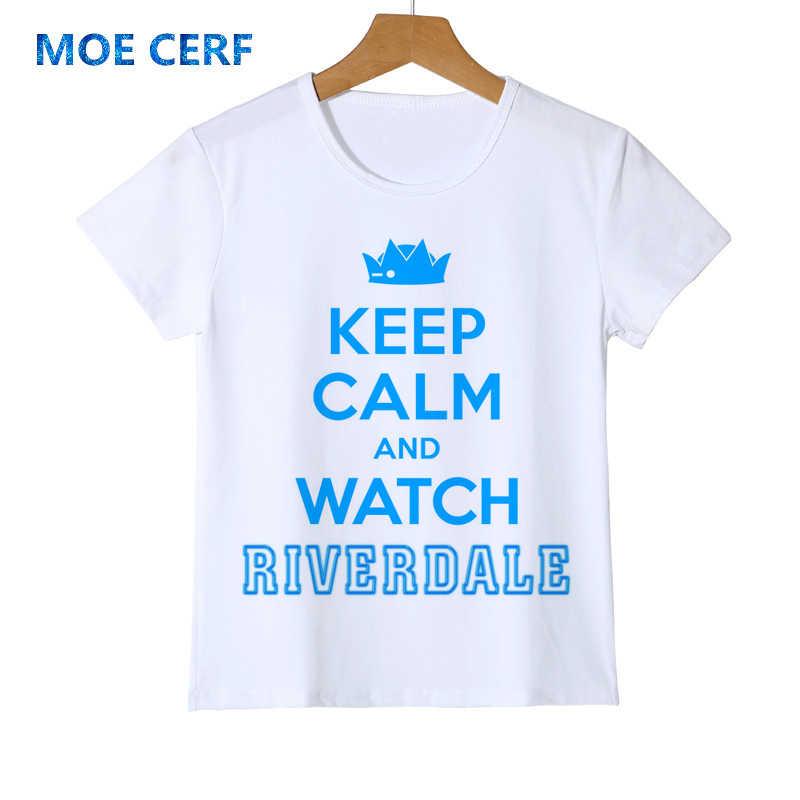 Boys Girls Summer Riverdale Summer child personality T Shirt Short Sleeve tshirt Streetwear Hip Hop Hipster Teen Tee Shirt Y10-5