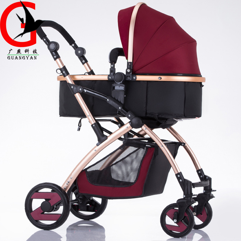 High Landscape Portable Lightweight Baby Strollers Foldable Baby Carriage Sit and Lie for Newborn Infant Four Wheels YBL-V58T luxury baby stroller high landscape baby carriage for newborn infant sit and lie four wheels