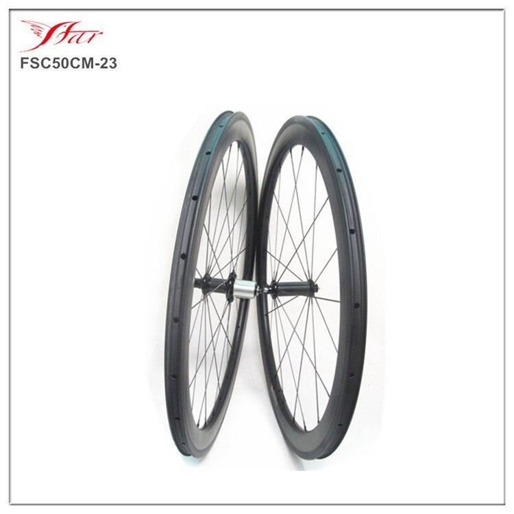 Xiamen Farsports 50mm carbon rim clincher basalt brake surface with Powerway hub, 700C 23mm new Aero spoke U shape carbon rims велосипедное колесо oem 1 700c 50 powerway r36 50mm clincher rim r36 ceramic bearing hubs