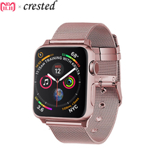 Milanese strap for Apple watch band 42mm 38mm iwatch 4 band 44mm 40mm Stainless steel metal watchband bracelet Apple watch 4 3 2 все цены
