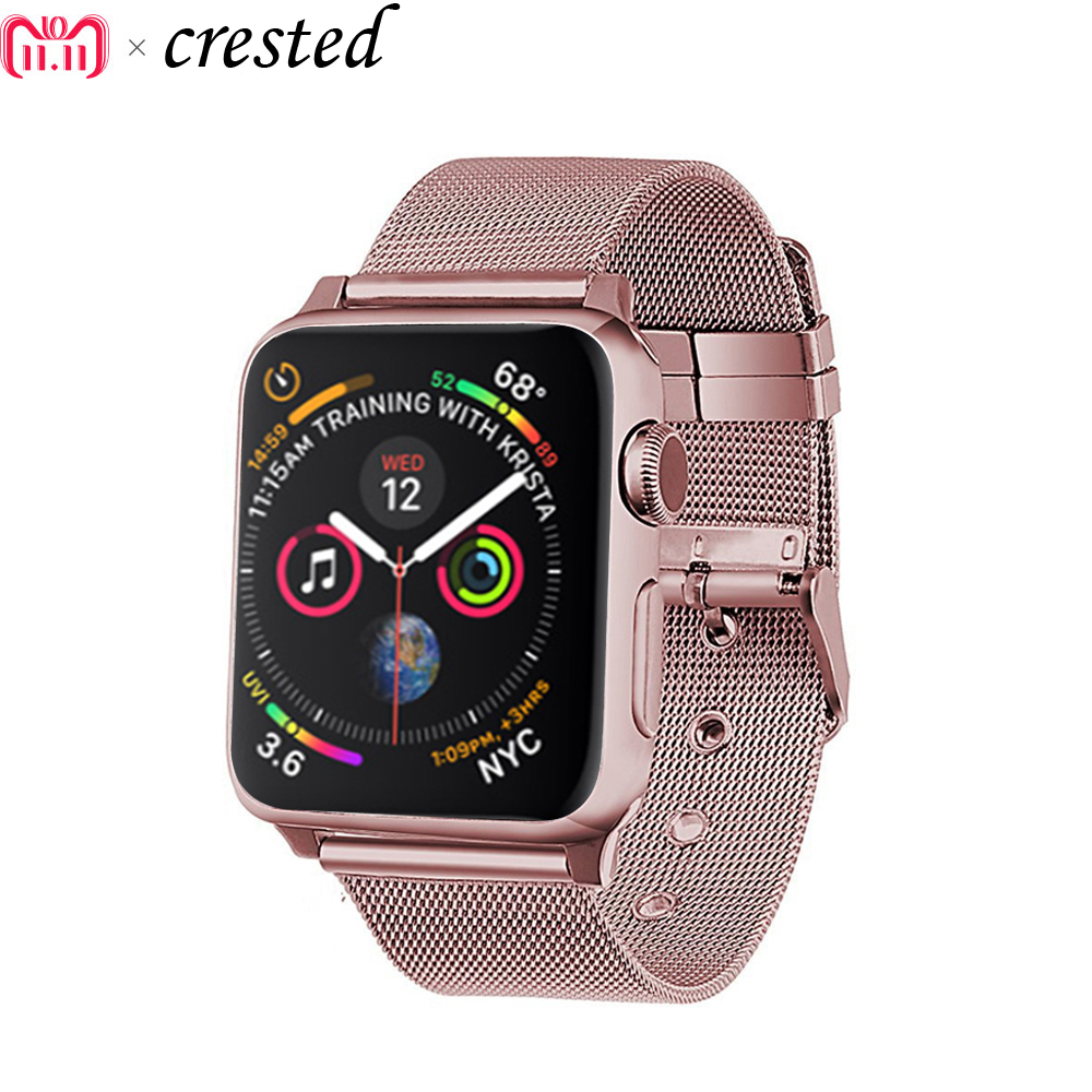 Milanese Strap For Apple Watch Band 44 Mm 40mm IWatch Band 42mm 38m Stainless Steel Metal Watchband Bracelet Apple Watch 5 4 3 2