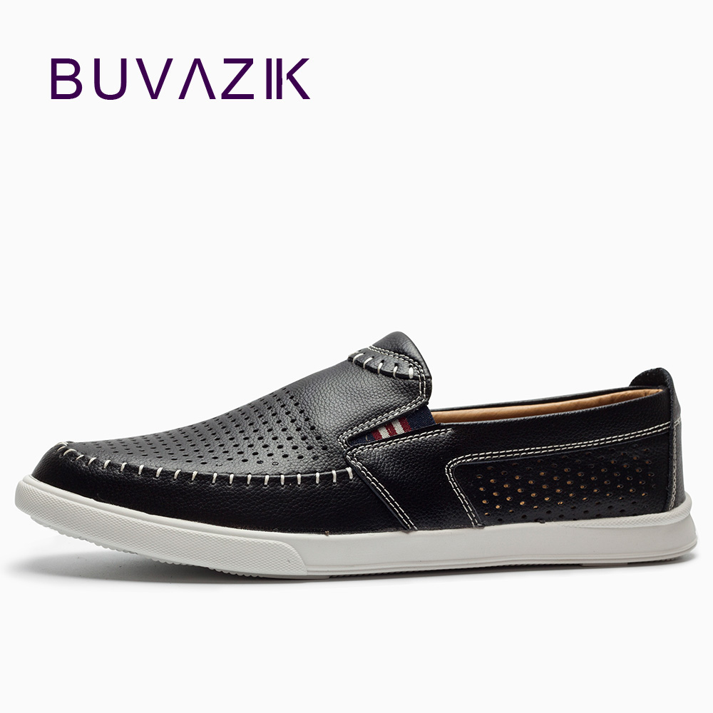 2018 Summer new men's hollow casual leather shoes cool leather shoes men breathable comfortable loafers set of foot hole shoes men loafers shoes needbo brand handsome comfortable top quality men casual shoes genuine leather fashion breathable shoes men