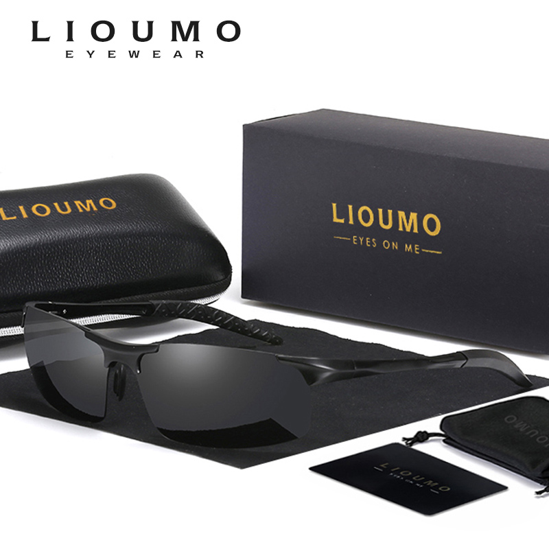 LIOUMO Brand HD Polarized Sunglasse Men Classic Sun Glasses HD Driving Fishing Accessories Goggles Night Goggles Oculos de sol