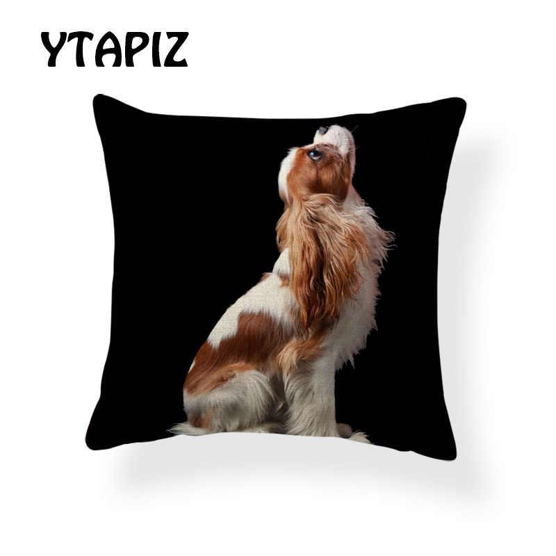 Милая подушка для домашних животных, квадратный Чехол 17x17 дюймов, полиэстер, панда, бамбук, медведь, головной убор, шапка, статуэтки котов, чехлы для подушек