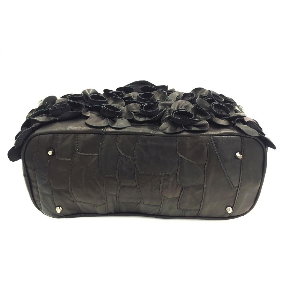 196e56a796 QIAOBAO Nuove Donne di Borse Fatte A Mano Borsa Colorata Borsa Della  Rappezzatura del Cuoio Genuino Sacchetto Tessuto Appliques Reale Tote Bag  In Pelle in ...