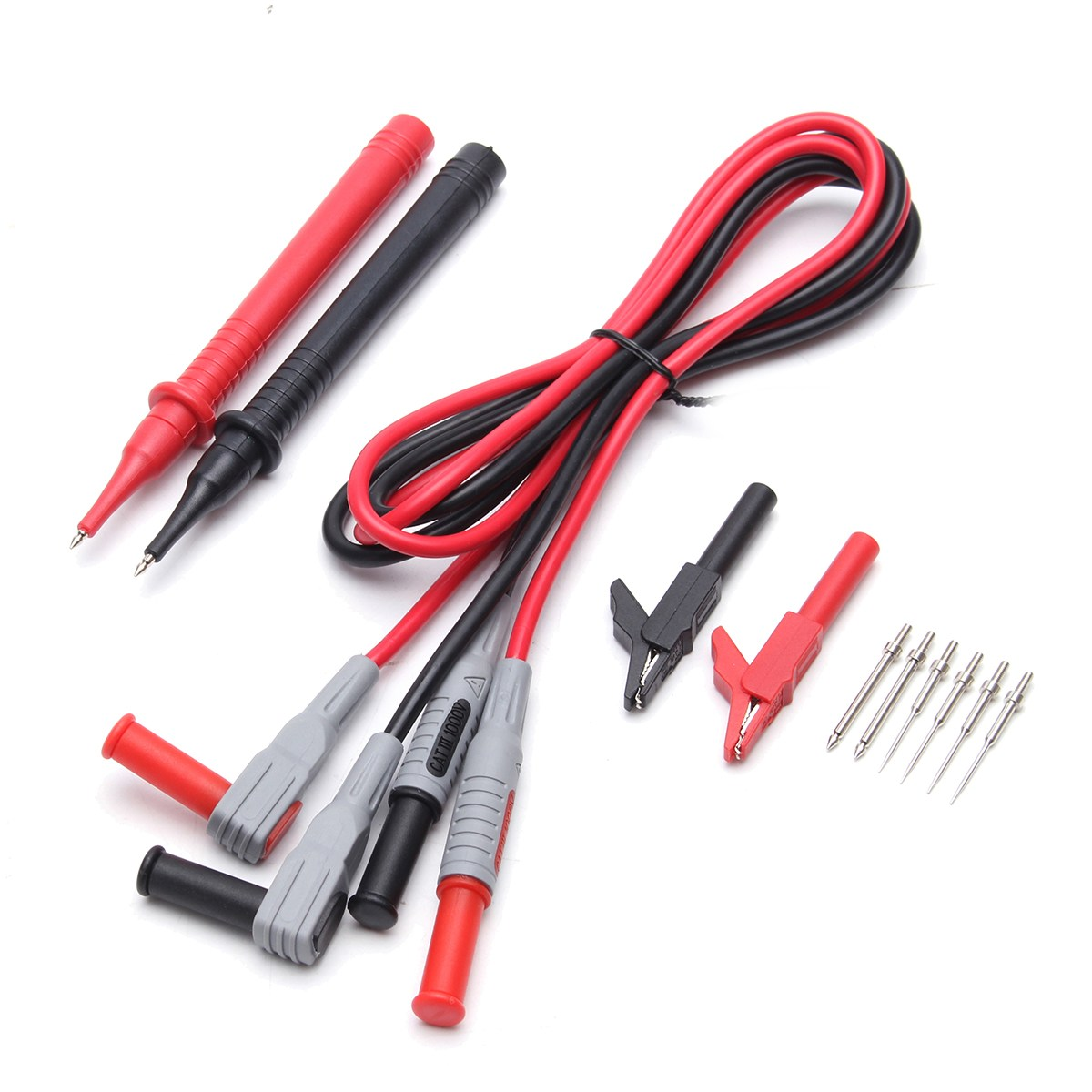 P1300B 12 In 1 Super Multimeter Probe Replaceable Probe Clamp Meter Test Lead Kits + Alligator Clips