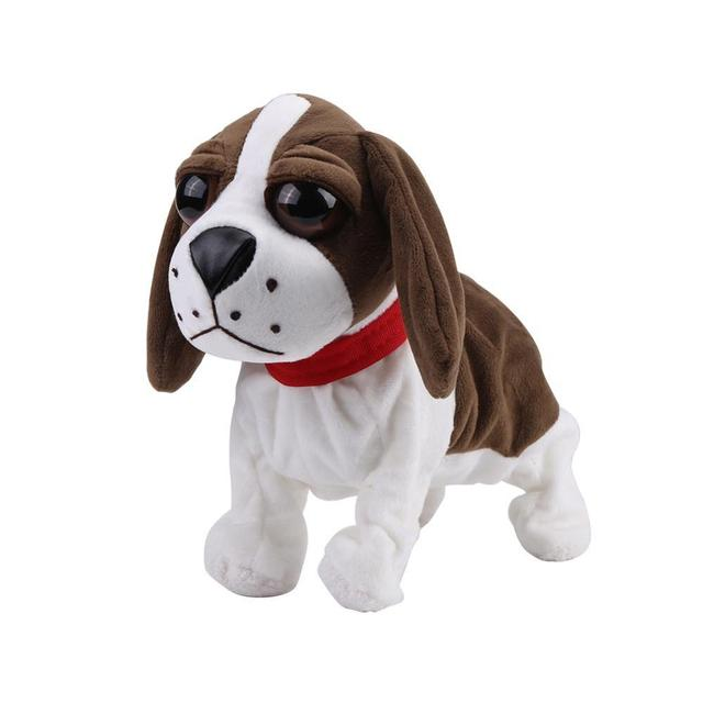 Lovely Plush Electronic Dog Pets Sound Control Robot Dogs Bark Stand Walk Cute Interactive Dog ElectronicToy Christmas Gift