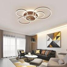 купить led ceiling lamp living room lamp simple modern atmosphere home hall creative personality bedroom lamp aluminum lamp по цене 7130.22 рублей