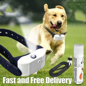 Image 4 - ペット犬充電式抗樹皮襟列車防水ストップ吠える犬防水超音波トレーニング首輪