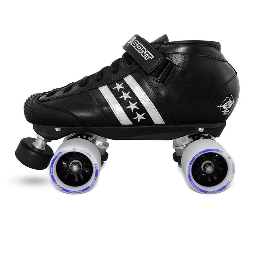 Original Bont Lowcut Quadstar Roller Skates Genuine Leather Heatmouldable Glassfiber Boot Base 4 Wheels Skating Shoes Patines bont