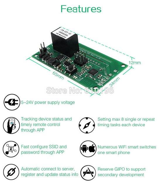 Sonoff SV tension sûre WiFi commutateur sans fil Module de maison intelligente soutien développement secondaire