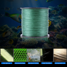 500m Fishing Line Weaving Strong 8 Strands Multifilament Braided Fish Line Rope Dark Green Outdoor Fishing Tackle Tools