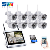 Plug And Play 8CH Wireless NVR CCTV System 960P 1 3MP HD Outdoor Home IR Video