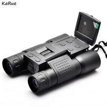 Cheapest prices KaRue  FS308 1080P Digital Camera 2.0 inch 5MP Zoom 12×32 Binocular Camcorder Telescope lens s  microSD / TF black free shipping
