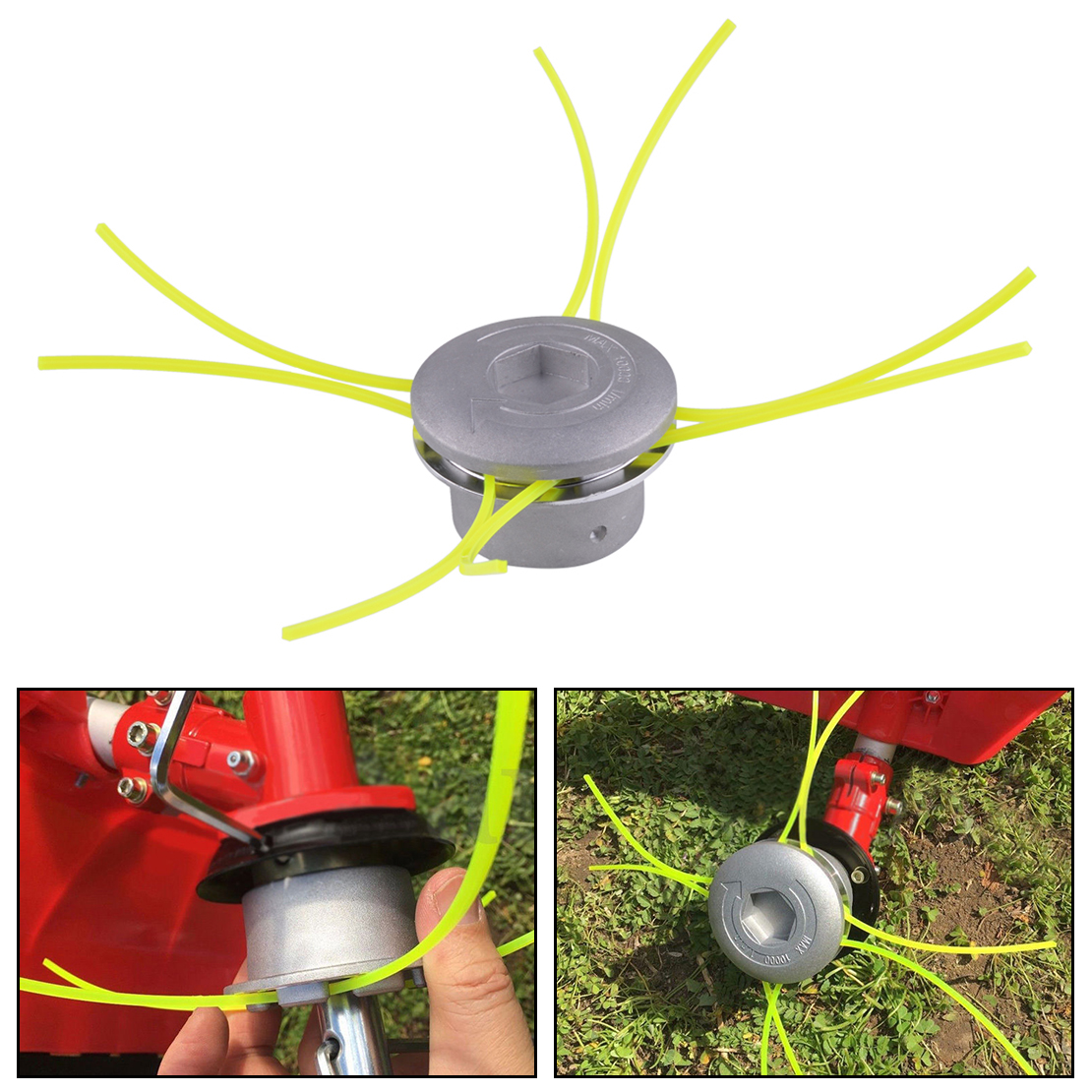 LETAOSK New Aluminum Linehead String Grass Trimmer Head Spool Set For Gasoline Brushcutter Cutter Weed Eater Tools Accessory
