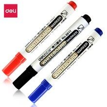 Deli 1 pcs Permanent Marker White Oil-Ink Mark Pens Stationery school & office supplies cd mark marker wood marker pen rock
