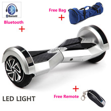 2 Wheel Self Smart Balance Scooter 8 inch with Led light Bluetooth+Remote+Bag Electric Skateboard Hoverboard