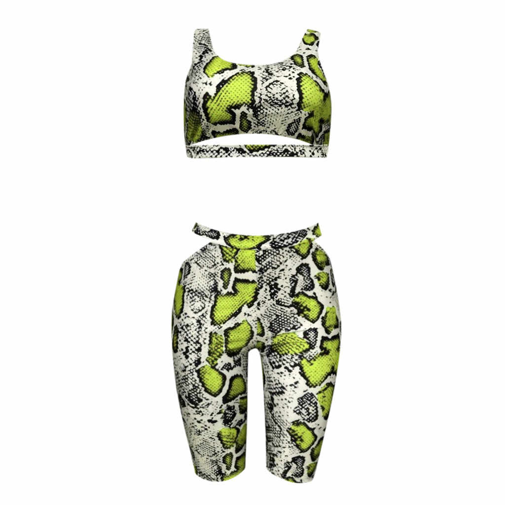 Women Summer Print Casual Two Piece Set Crop Top and Pants Short Suits Sexy women 2 piece set tracksuits women sets #515