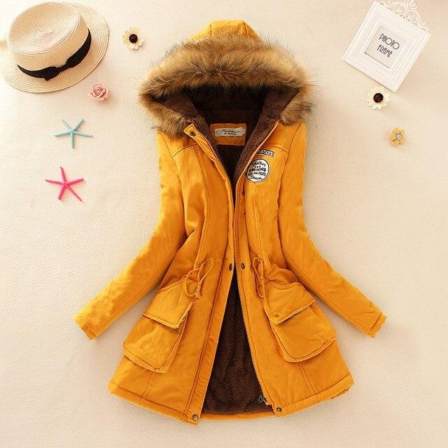 ФОТО 2017  Women Winter Coat  Cotton Winter Jacket Thickening Womens Outwear Parkas for Women Winter New Long Parkas Female W10