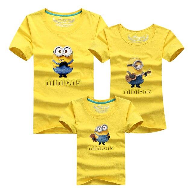 d02dd572cd42b1 R$ 30.9 49% de desconto 2019 minions família olha camisetas matching mãe  filha roupas pai mãe filho bebê mommy and me outfits roupas em Roupas de ...