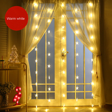 1M 220V Fairy star led icicle curtain string wedding lights Garland for bedroom christmas holiday  party wedding decoration
