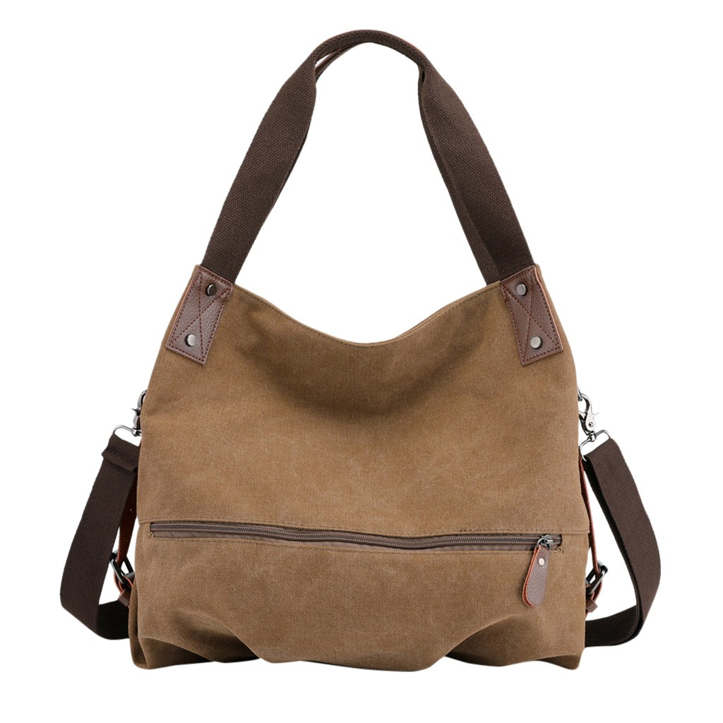 Women's Canvas Messenger Bag Small Vintage Handbag Shopper Shoulder Bag Tote Bag Bucket Bag#YL