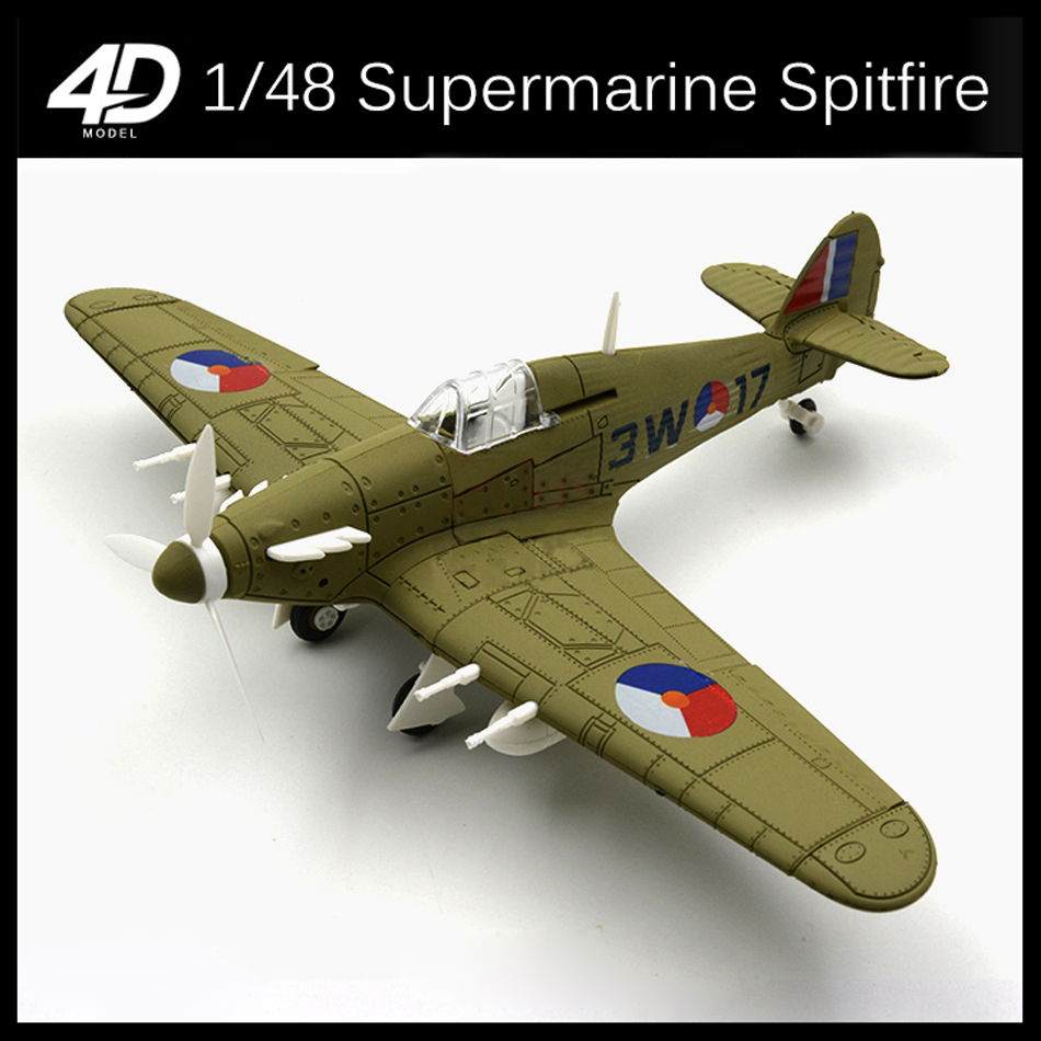 2016 New 4D Model Plastic Aircraft Model 1/48 Supermarine Spitfire Fighter 4 щипцы для волос braun st 310