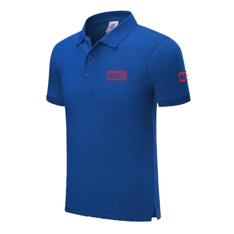 New Brand MARVEL logo   polo   shirt Men Short Sleeve Mens Cotton   Polo   Homens printed Casual   polo   shirt