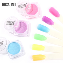 ROSALIND Nails Glitter Powder Fluorescent powder polish for Nails Glit