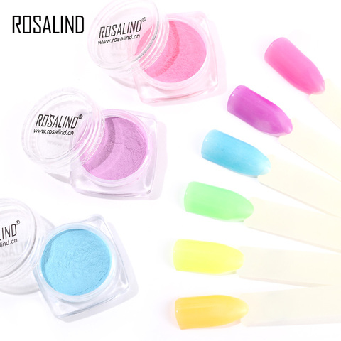 ROSALIND Nails Glitter Powder Fluorescent powder polish for Nails Glitter Decorations Nail Manicure for Nail Gel Polish Pakistan