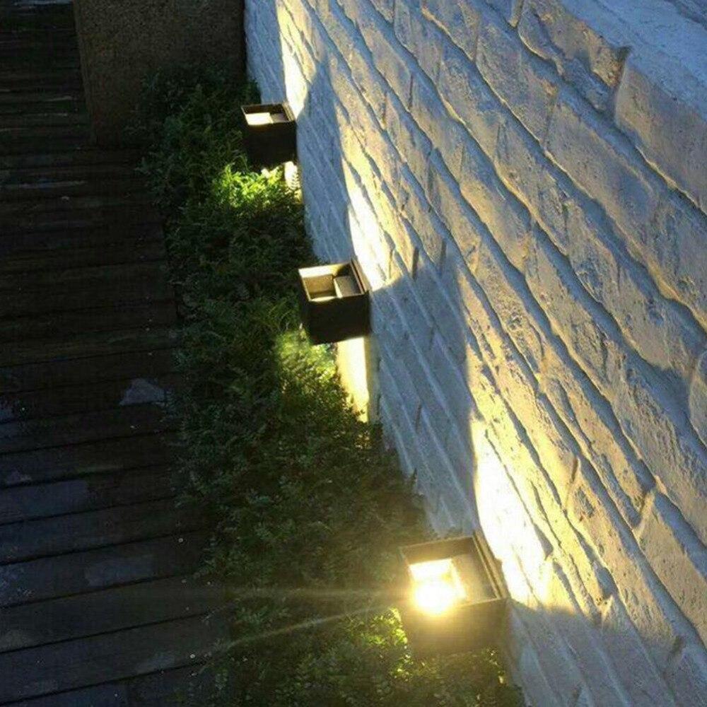 Up/Down Étanche LED Jardin porche Mur Lampe, 12 W Angle de Faisceau Réglable En Plein Air Intérieur Applique Murale Lumière froide/blanc chaud