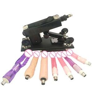Image 1 - Yeni seks makinesi kadın mastürbasyon pompalama tabancası 6 Dildos ekleri otomatik seks makineleri kadınlar için seks ürünleri
