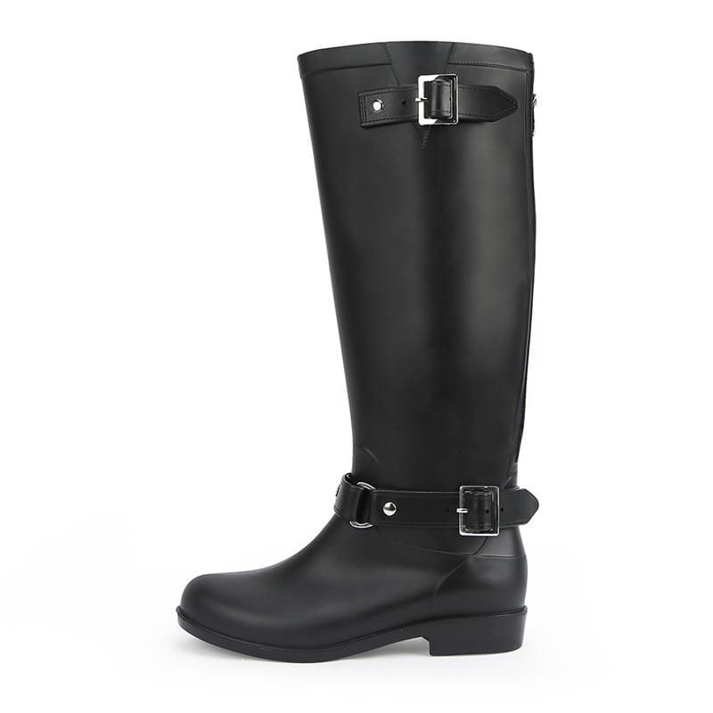Absätzen Wasserdichte Jagd 2 Regen Weibliche Walking Mid Frauen Damen Gummi Mädchen Stiefel 1 Lp234 3 Hunter Casual Schuhe Außen kalb Für Niedrigen zSR6Sx