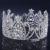2016 Nova Cristal Nupcial Acessórios Do Cabelo Do Casamento Tiara de strass Casamento Coroa Tiara Pageant crown Rodada Simétrica