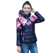 7-14 Day To Moscow Brand Women Winter Jacket New Printing Was Down Cotton Coat Winter Jacket Women Plus Size Cheap Coat Jacket