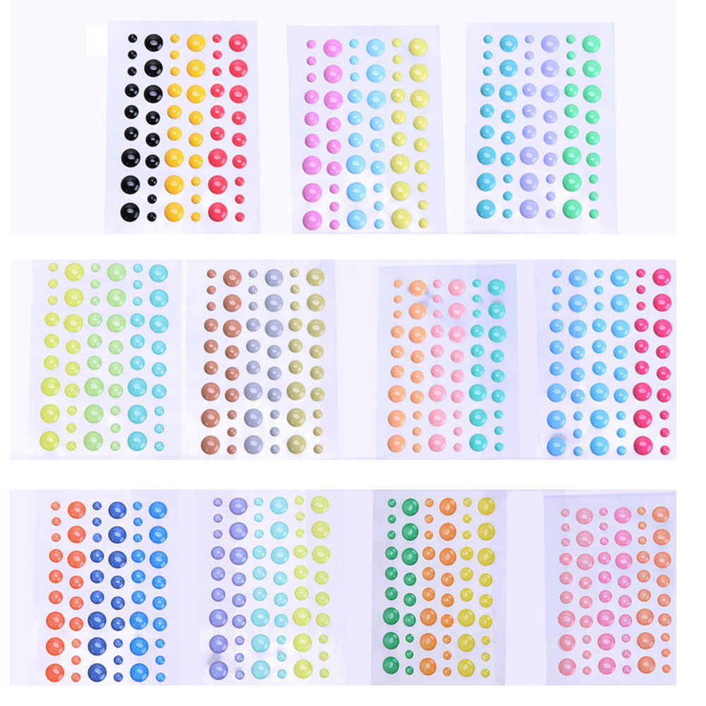 Sugar Sprinkles Self- adhesive Resin Sticker Enamel Dots sticker for Scrapbooking/ DIY Crafts/ Card Making Decoration