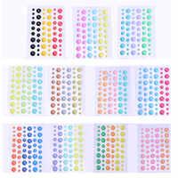 Azúcar Sprinkles autoadhesivo resina pegatina esmalte puntos adhesivo para álbum de recortes/manualidades DIY/hacer tarjetas de decoración