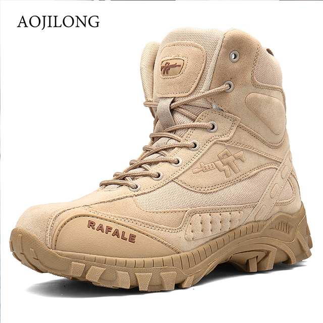 MANLI Outdoor Sports Tactical Camping Shoes Men's Boots For Climbing Breathable Hunting Shoes Lightweight Mountain Boots Hiking
